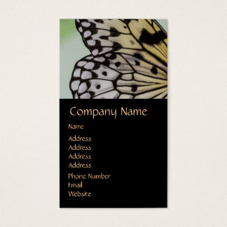 Macro Nymph Butterfly Wing Business Card