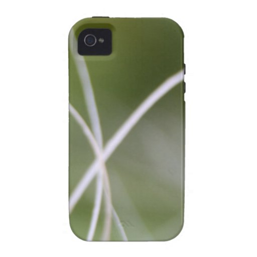 Macro of A Green Palm Tree Leaf iPhone 4 Covers
