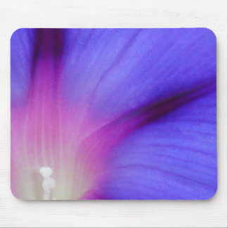Macro of A Royal Purple Ipomoea Flower Mouse Pad