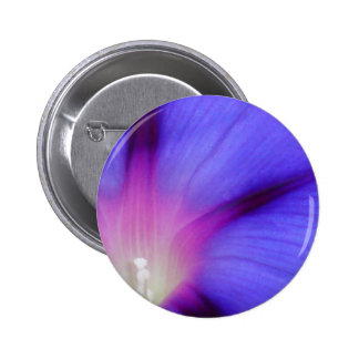 Macro of A Royal Purple Ipomoea Flower Pinback Button
