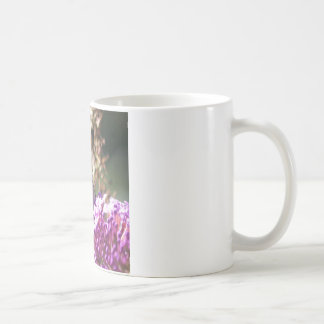Macro Painted Lady Butterfly coffee Cup Classic White Coffee Mug