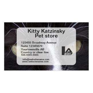 Macro photo Eyes of a cat personal and Double-Sided Standard Business Cards (Pack Of 100)