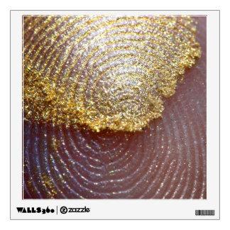 Macro Photo Fingerprint Gold Glitter Wall Decal