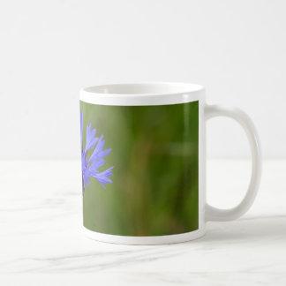 Macro photo of a cornflower (Centaurea cyanus) Coffee Mug