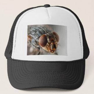 Macro photo of a fly trucker hat