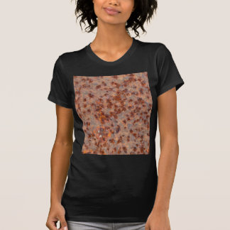 Macro photo of a rusty iron sheet. T-Shirt