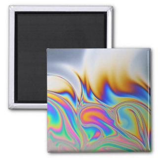 Macro photo of a soap bubble fridge magnets