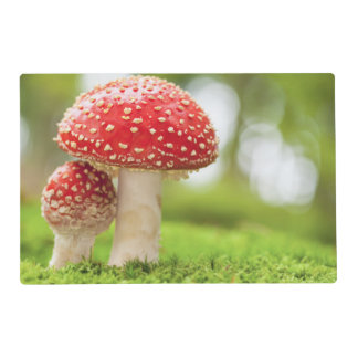 Macro Photo Of Amanita Muscaria In Forest Placemat