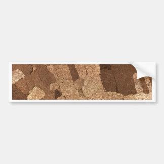 Macro photo of an iron meteorite bumper sticker