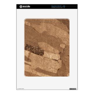 Macro photo of an iron meteorite decal for iPad