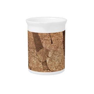 Macro photo of an iron meteorite drink pitcher