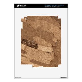 Macro photo of an iron meteorite iPad 3 decal