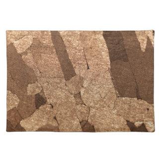 Macro photo of an iron meteorite placemat