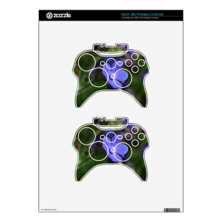 Macro photo of an Italian Bugloss Xbox 360 Controller Decal