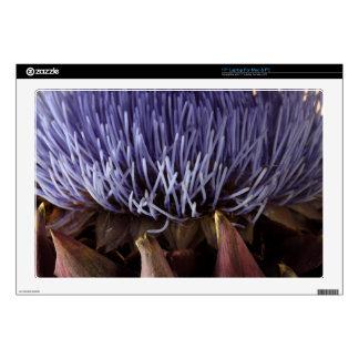 "Macro photo of blue artichoke flower leaves. skin for 17"" laptop"