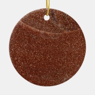 Macro photo of Goldstone glass Ceramic Ornament