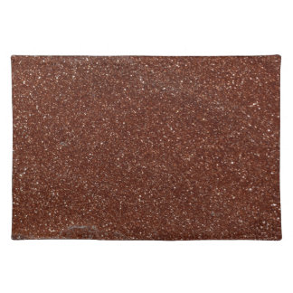 Macro photo of Goldstone glass Cloth Placemat