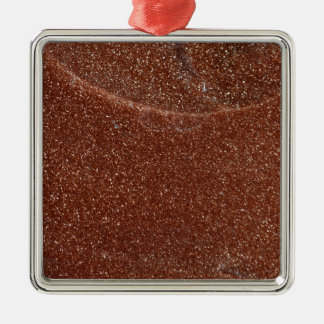 Macro photo of Goldstone glass Metal Ornament