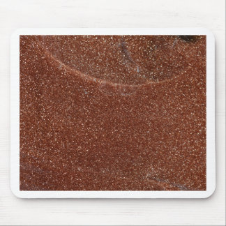 Macro photo of Goldstone glass Mouse Pad