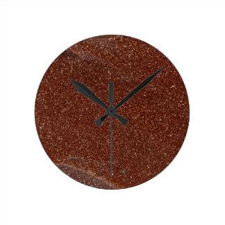 Macro photo of Goldstone glass Round Clock