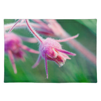 Macro photo of prairie flowers in Montana Cloth Placemat