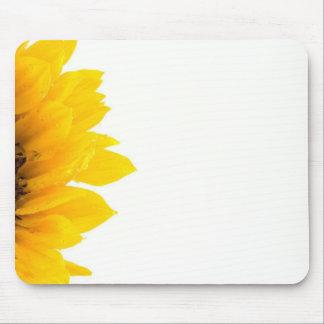 Macro Photo Of Sunflower On White Background Mouse Pad