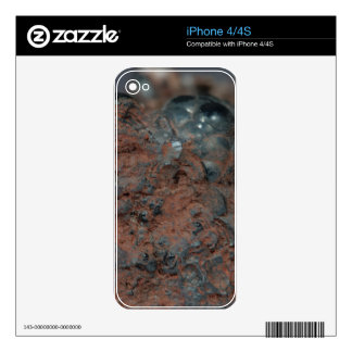 Macro photo of the iron ore Hematite. Decal For iPhone 4S