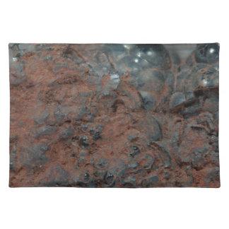 Macro photo of the iron ore Hematite. Placemat