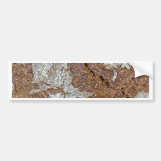 Macro photo of the surface of brown bread from Ger Bumper Sticker