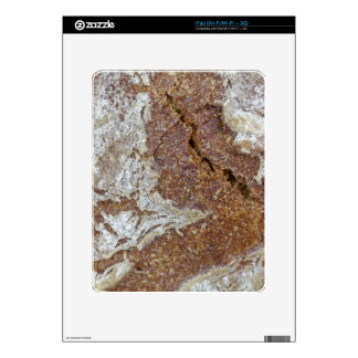 Macro photo of the surface of brown bread from Ger Decal For iPad
