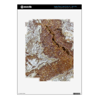 Macro photo of the surface of brown bread from Ger iPad 3 Decal