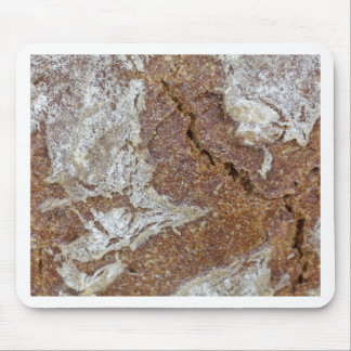 Macro photo of the surface of brown bread from Ger Mouse Pad