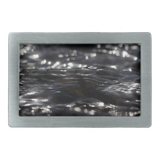 Macro photo of the surface of water in a creek belt buckle