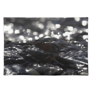 Macro photo of the surface of water in a creek cloth placemat
