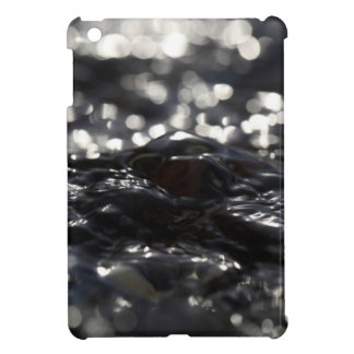 Macro photo of the surface of water in a creek iPad mini case