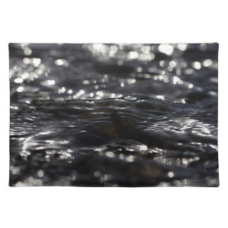 Macro photo of the surface of water in a creek placemat