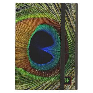 Macro Photo Real Peacock Feather On iPad iPad Air Cover
