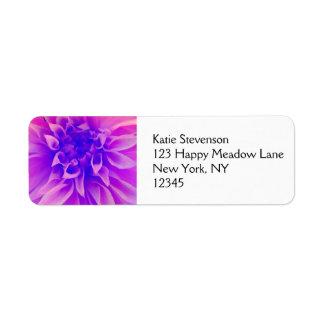 Macro Pink Flower Label