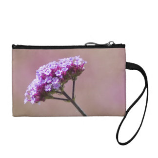 Macro Purple and Pink Flowers Coin Purse