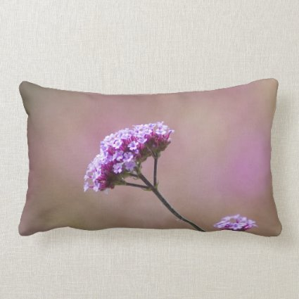 Macro Purple and Pink Flowers Pillow