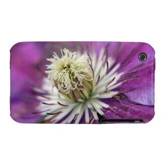 Macro Purple Clematis Flower Case-Mate iPhone 3 Case