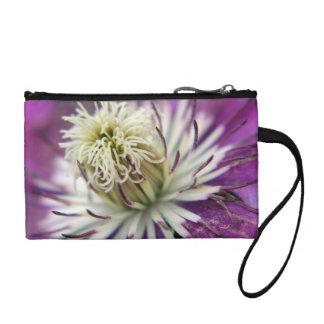 Macro Purple Clematis Flower Change Purse