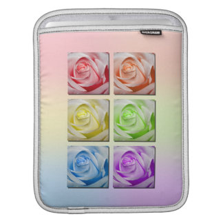 Macro Rainbow Roses Sleeve For iPads