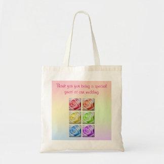 Macro Rainbow Roses Wedding Favour Bag