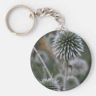 Macro Seed Head of Round Headed Garlic Keychain