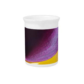 Macro shot of callas beverage pitcher