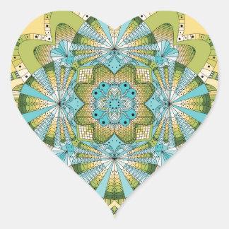 Macro shot of callas heart sticker