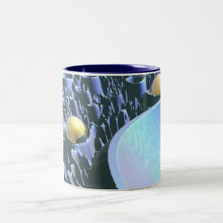 Macro Spores Two-Tone Coffee Mug