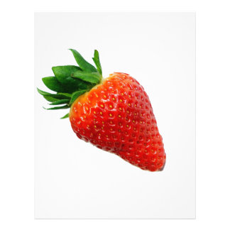 Macro Strawberry Letterhead Template