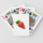 Macro Strawberry Playing Cards